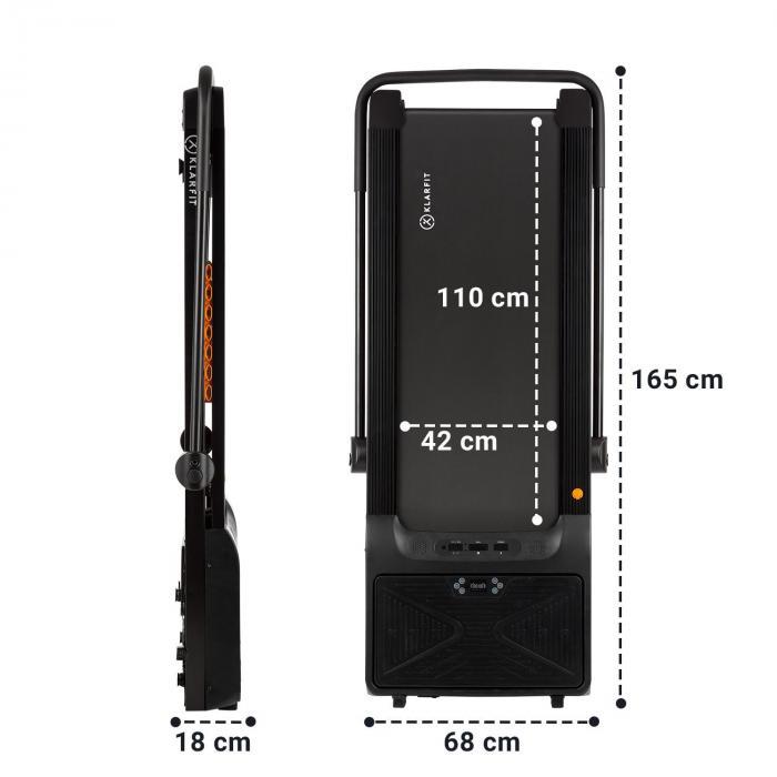 Workspace Fusion Laufband & Vibrationsplatte 1-12km/h Bluetooth