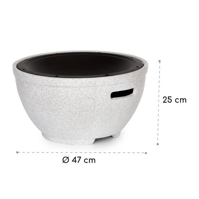 Syrakus Braciere Ø37cm Pietra Artificiale Acciaio nero/effetto pietra