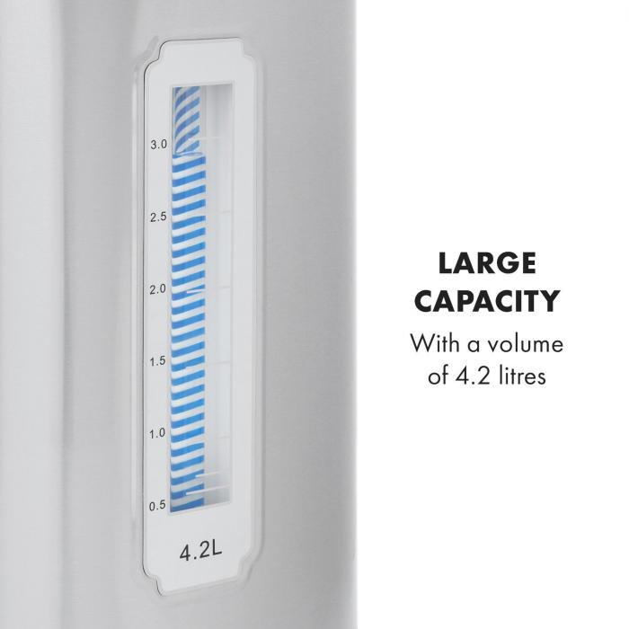 Hot Spring distributore d'acqua calda serbatoio d'acciaio inox da 4,2l argento