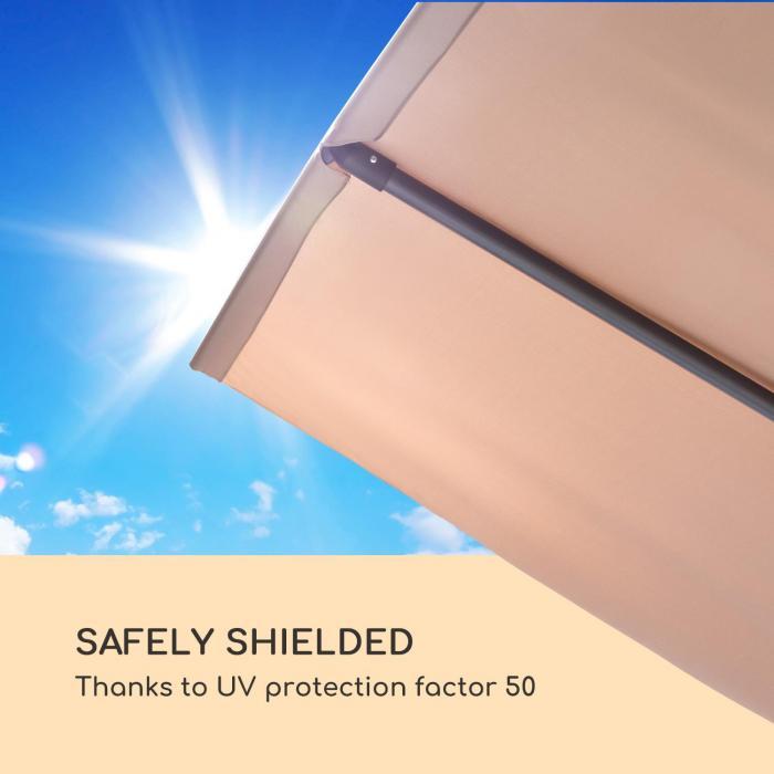 Flex-Shade XL Sonnenschirm 150 x 210 cm Polyester UV 50 taupe