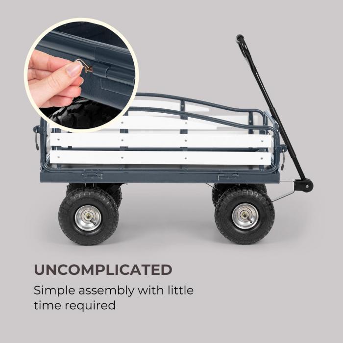 Ventura carretto a mano carichi pesanti 300 kg acciaio WPC nero