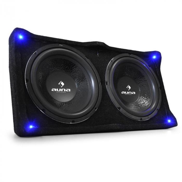 "Car HiFi Set ""Black Line 120"" Subwoofer Eindtrap 1600 W max."