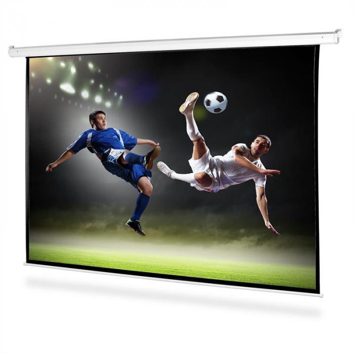 Pantalla motorizada para proyector HDTV 200x200cm 1:1
