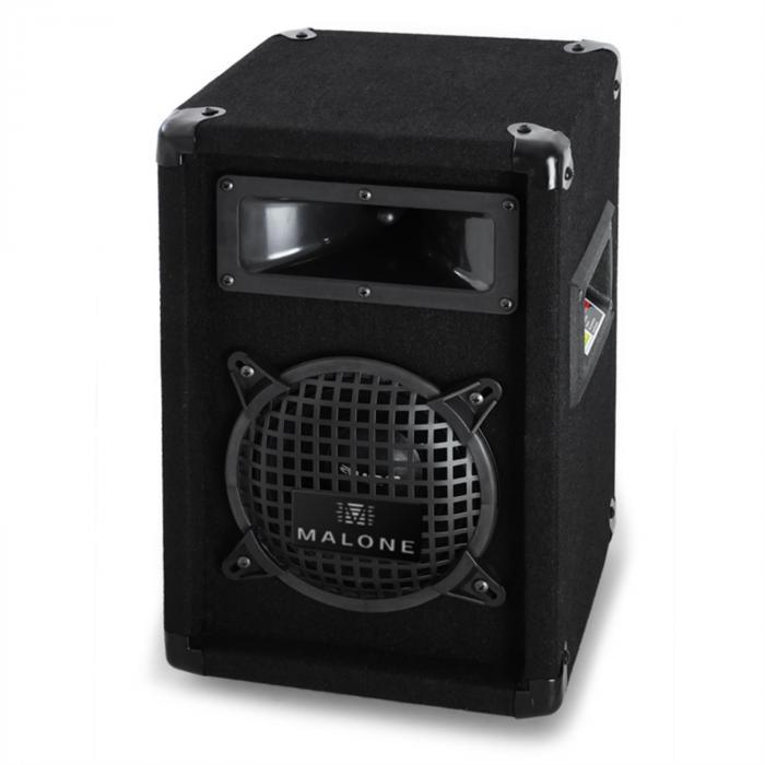 """PA-setti """"Malone SPLVHF"""" pari 6,5"""" kaiutin VHF-mikrofoni & vahvistin 300W"""