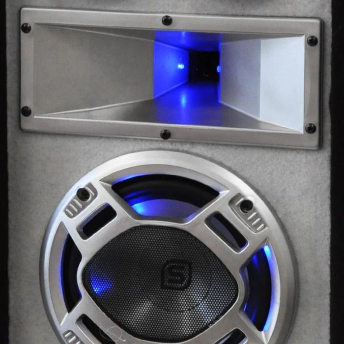 """Set PA da DJ """"White Noise"""" 2x500W Amplificatore Altoparlanti PA 600W Cavo Altoparlanti"""