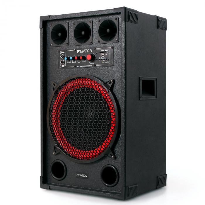 SPB-12 Aktiv Passiv Boxen Set 800W 30cm Woofer USB/SD Bluetooth MP3