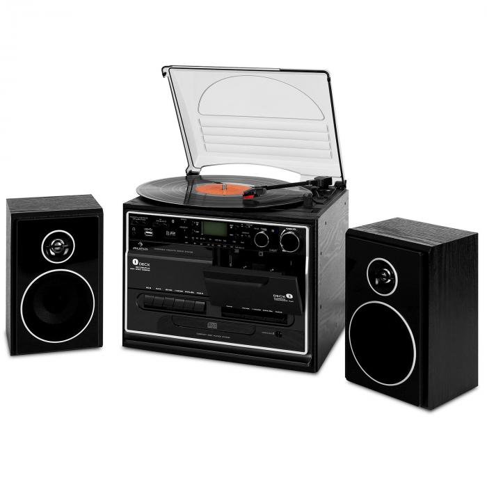 388 Bt Hifi Cd Stereo System Turntable Cassette Bluetooth