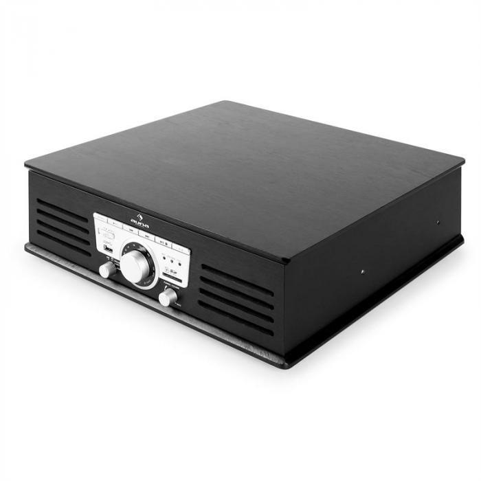 tt 92b plattenspieler usb sd aux ukw schwarz schwarz online kaufen elektronik star de. Black Bedroom Furniture Sets. Home Design Ideas