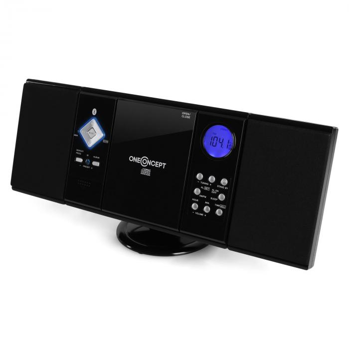 V-12-BT Bluetooth-Stereoanlage USB SD CD MP3 AUX UKW schwarz