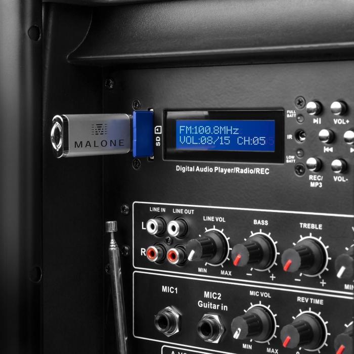 PP-2915BTR cassa attiva portatile 38cm 450W RMS 2 MIC