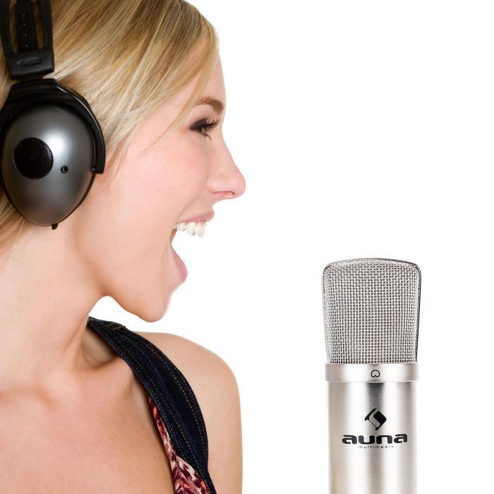 CM001S Professional Condenser Microphone Studio XLR Silver