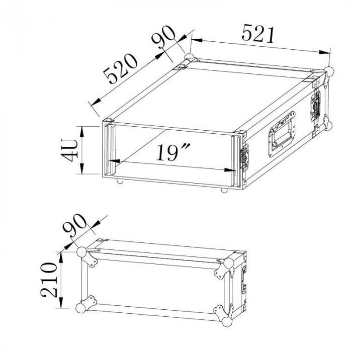 "SC-R4U räkkilaatikko 19"" 4U"