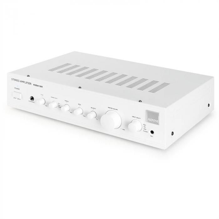 White Sistema Home Cinema HiFi Amplificador design caixas branco
