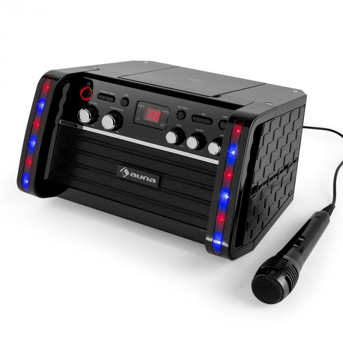 Disco Fever karaokelaite CD-/CD+G-soitin iPad-pidike