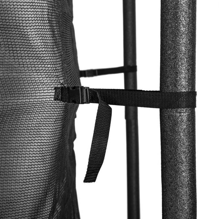 Rocketboy 430 trampoline 430cm veiligheidsnet binnenkant brede ladder, blauw