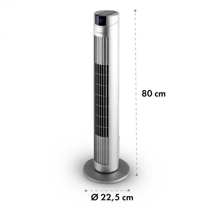 Skyscraper 2G Ventilatore A Colonna 40W Aroma Telecomando Argento