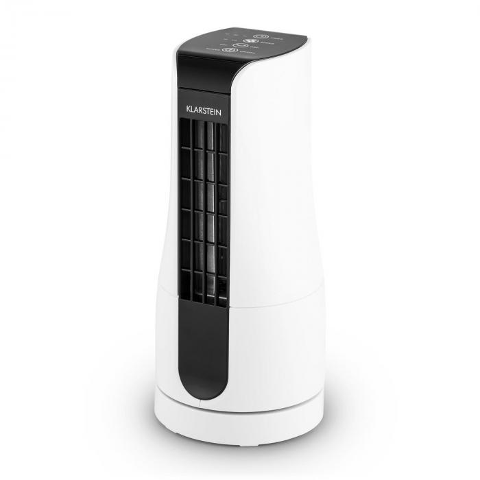 Skyscraper Office Set 3 pezzi Ventilatore da Tavolo 16W Touch Bianco