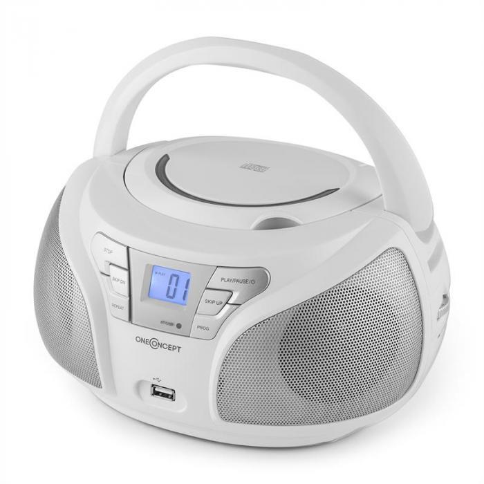 Groovie WH Boombox Bluetooth CD MP3 Bianco