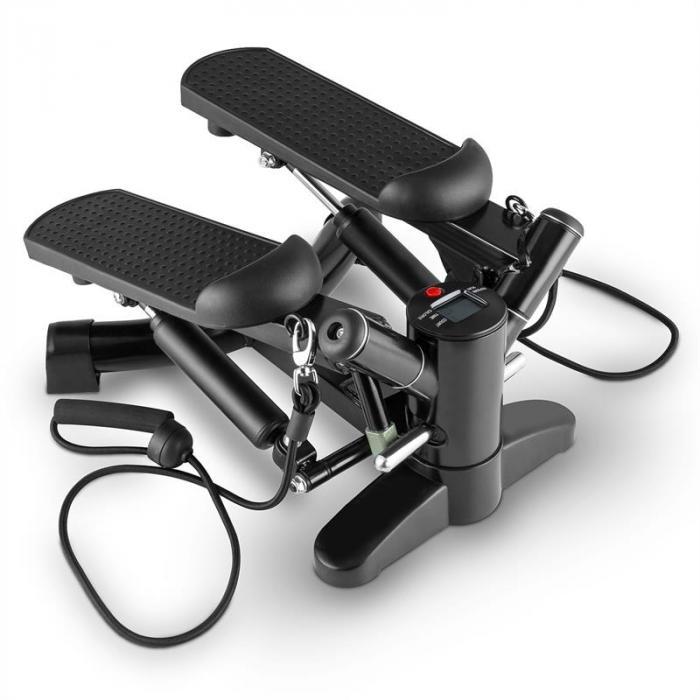 Powersteps Twist-Stepper mit Expander-Bändern schwarz