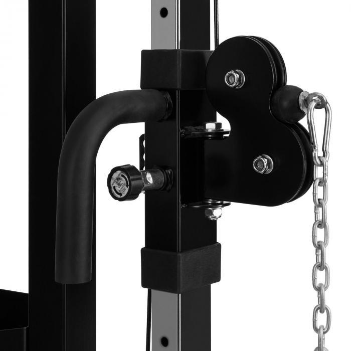 Xtrakter trenażer linowy brama z wyciągiem stacja linowaczarna stal 2 x 90kg