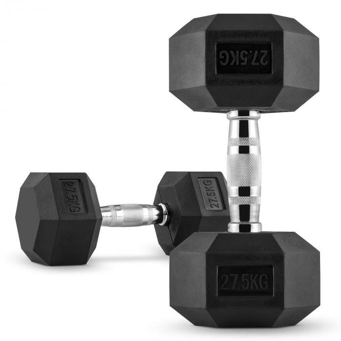 Hexbell Dumbbell Korte Halter Paar 27,5 kg