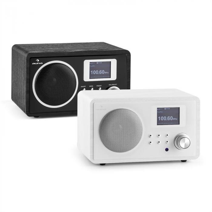 IR-150 internetradio FM, DLNA WLAN retro kaukosäädin puupinnoite valkoinen