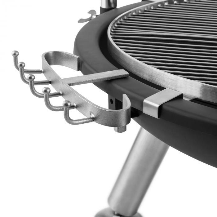 Turion hänggrill eldstad ställning BBQ träkol sele rostfritt stål Ø80cm