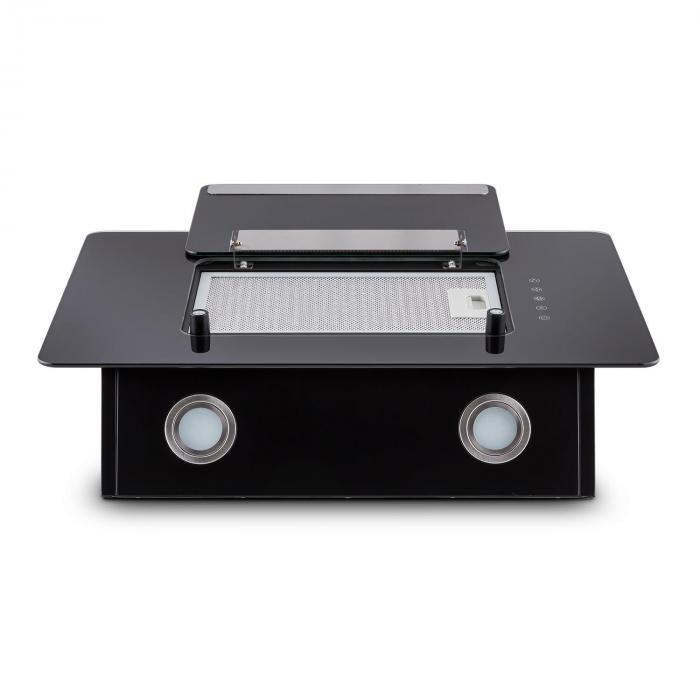 Lorea Exaustor de Cozinha Extractor de Fumos Campânula Vidro Escurecid
