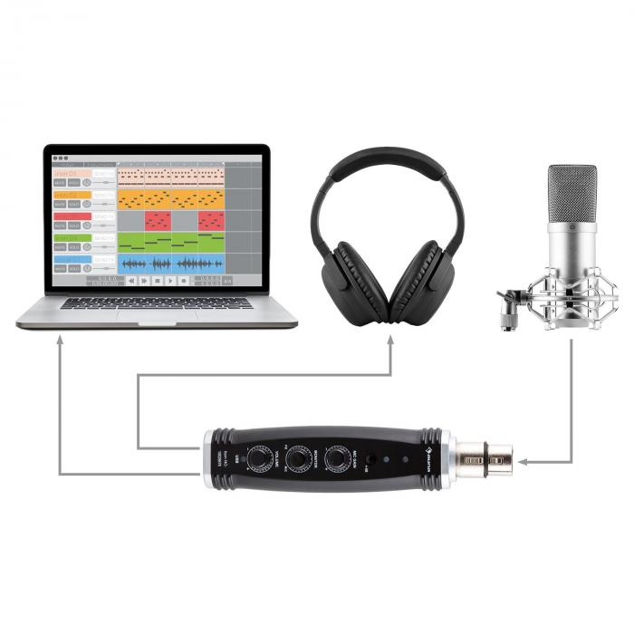 CM001S Microphone Set V4 Headphones Condenser USB Adapter Arm POP-Shield