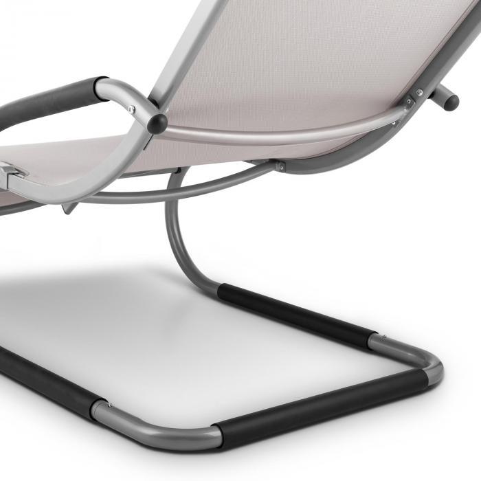 Sunwave Espreguiçadeira Cama de Rede Hammock Cadeira de Jardim Alumínio Taupe