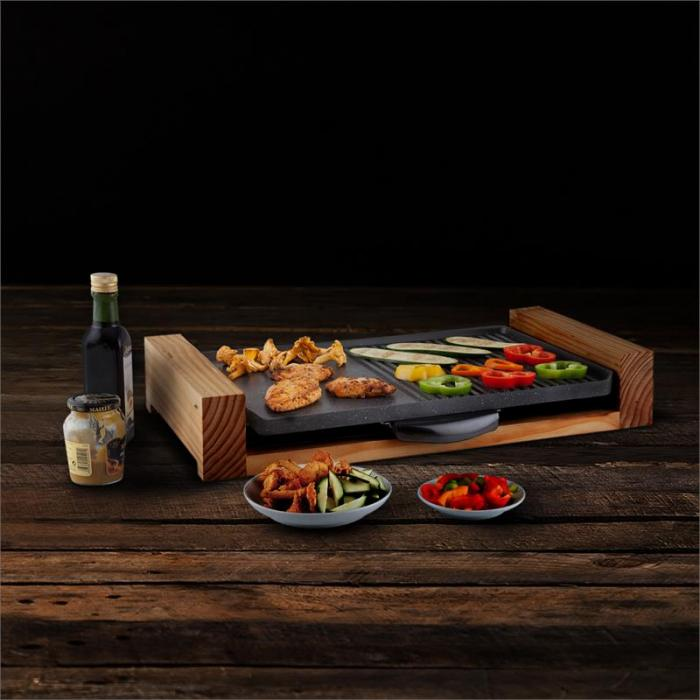 lumberjack elektrogrill tischgrill 2300w rustikal holz online kaufen elektronik star de. Black Bedroom Furniture Sets. Home Design Ideas