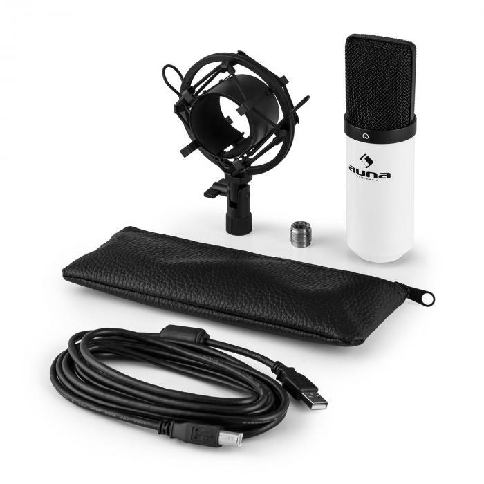 MIC-900WH USB condensator microfoon niervormig wit studio