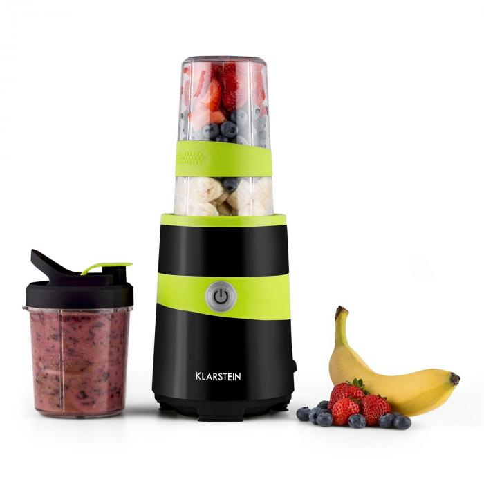 Vitalic Mixer Smoothie Maker 1000W 2 Lame Nero