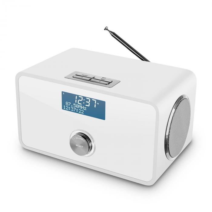 DABStep DAB/DAB+ digitaalinen radio bluetooth FM RDS herätyskello valkoinen
