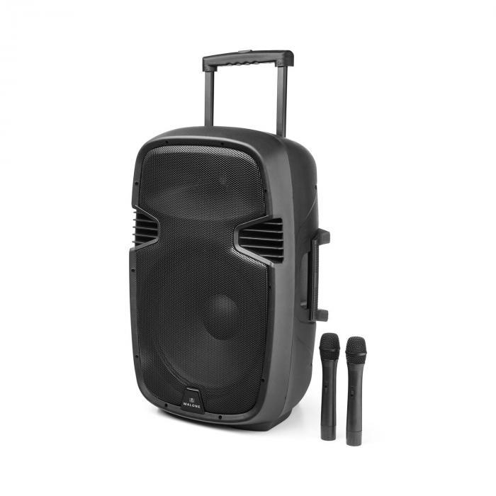 Bushradio 45 Actieve PA-Luidspreker 900W Bluetooth Accu USB SD MP3 VHF