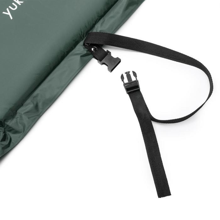 Goodbreak 10 Mata izolacyjna Podwójny materac powietrzny 10cm grubości Poduszka pod głowę zielona
