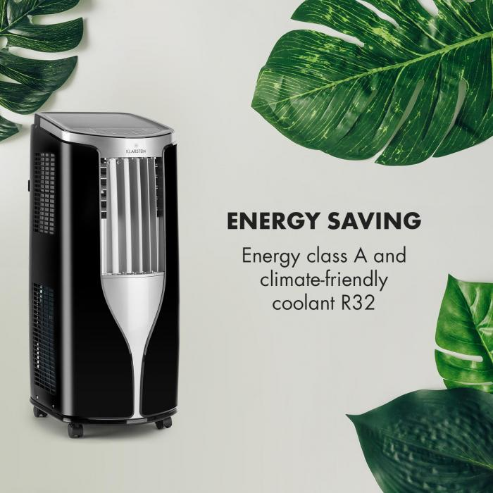 New Breeze 7 Climatizzatore 7000 BTU Classe Energetica A Telecomando Nero