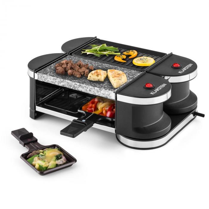 Tenderloin Mini raclette-grilli 600 W 360°-asema grillilevy kivilevy