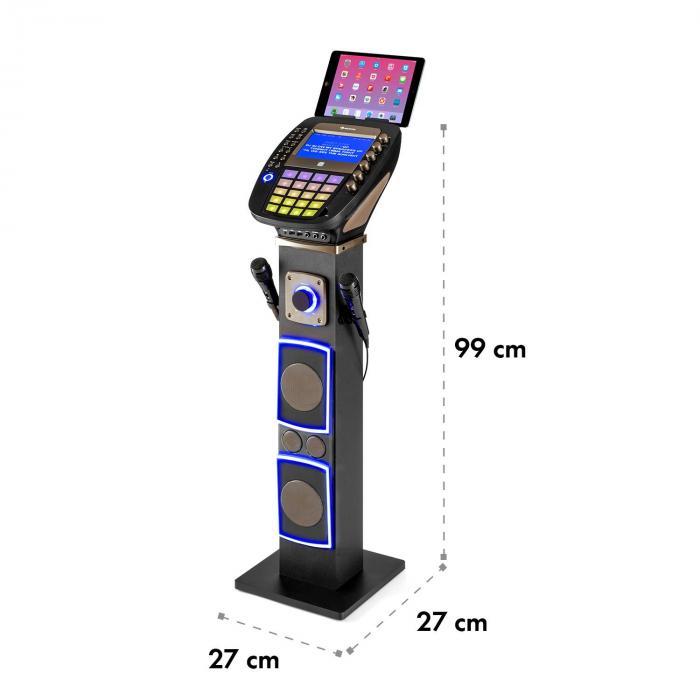 "KaraBig Karaoke Machine Bluetooth LED 7"" TFT CD USB Built-In Speaker"