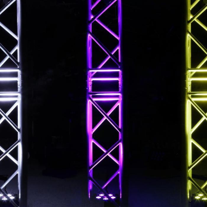 BFP110 3 in 1 LED-valonheitin 5 x 6 W RGB-LED-valot DMX infrapunakaukosäädin
