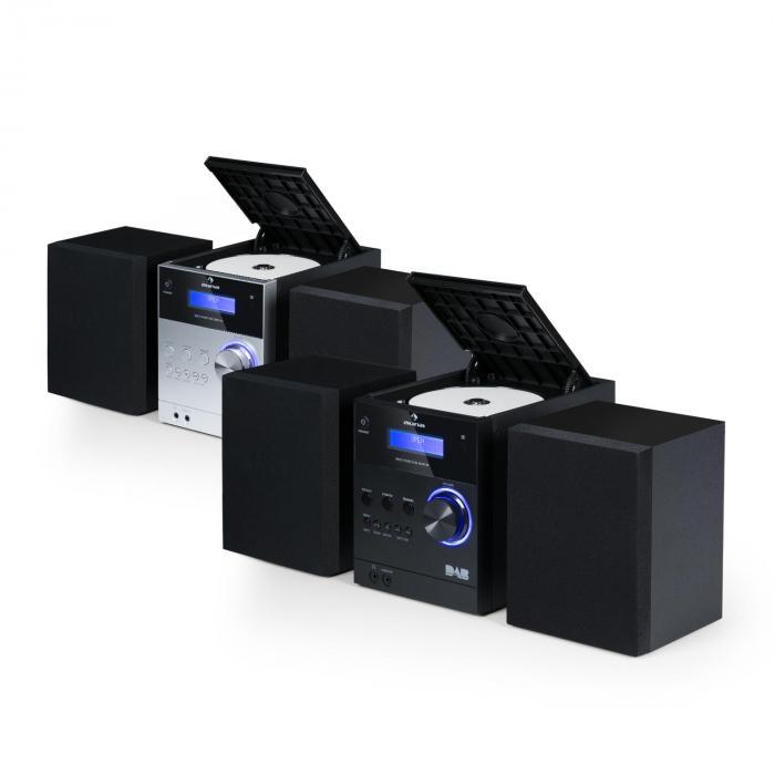 MC-20 DAB Micro-Stereoanlage DAB+ Bluetooth Fernbedienung schwarz
