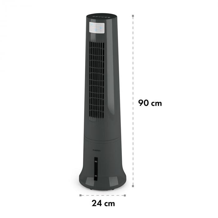 Highrise tuuletin jäähdytyslaite ilmankostutin 35 W 2,5 l kylmävaraaja harmaa