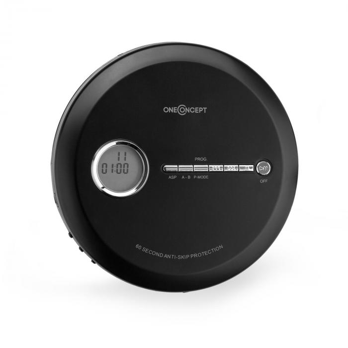 CDC 100MP3 Discman reproductor de CD, CD-R, CD-RW y MP3-CD, USB, sistema antichoque, negro