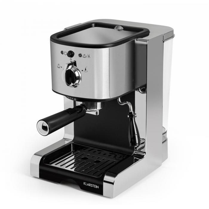 Passionata 15 espressokeitin 15 bar cappuccino maitovaahto hopeanvärinen