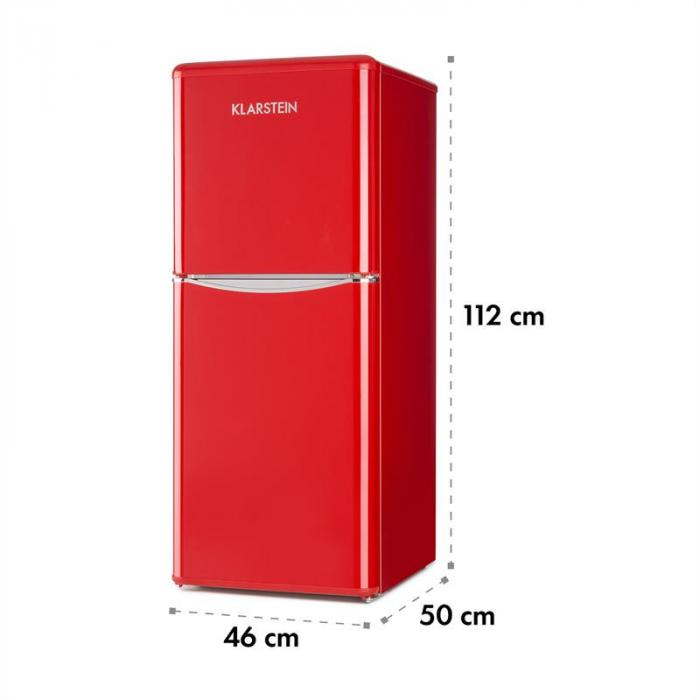 monroe l k hlschrank 70l k hlfach 38l gefrierfach retrolook rot rot online kaufen elektronik. Black Bedroom Furniture Sets. Home Design Ideas