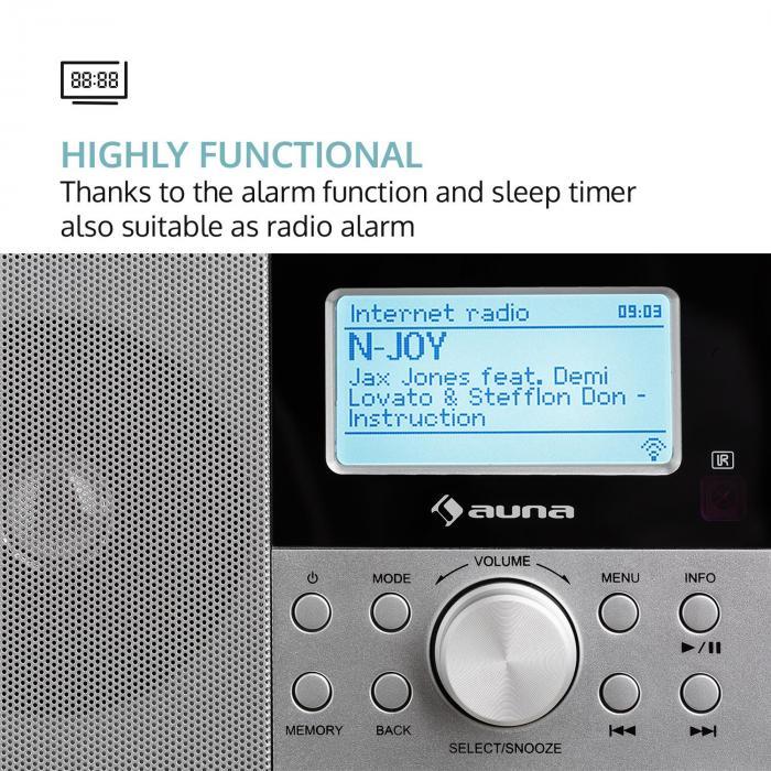 Worldwide Mini Radio internetowe WLAN odtwarzacz sieciowy USB MP3 AUX UKF