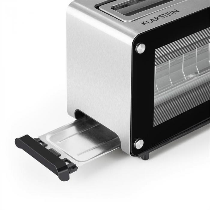 canyon toaster doppelte glasfenster 1200w drehregler edelstahl online kaufen elektronik star de. Black Bedroom Furniture Sets. Home Design Ideas