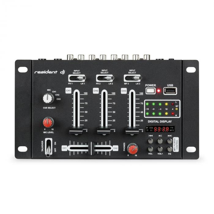 """DJ PA Set """"DJ-14"""" BT, amplificatore PA, mixer BT, 2 x altoparlanti, microfono per karaoke"""