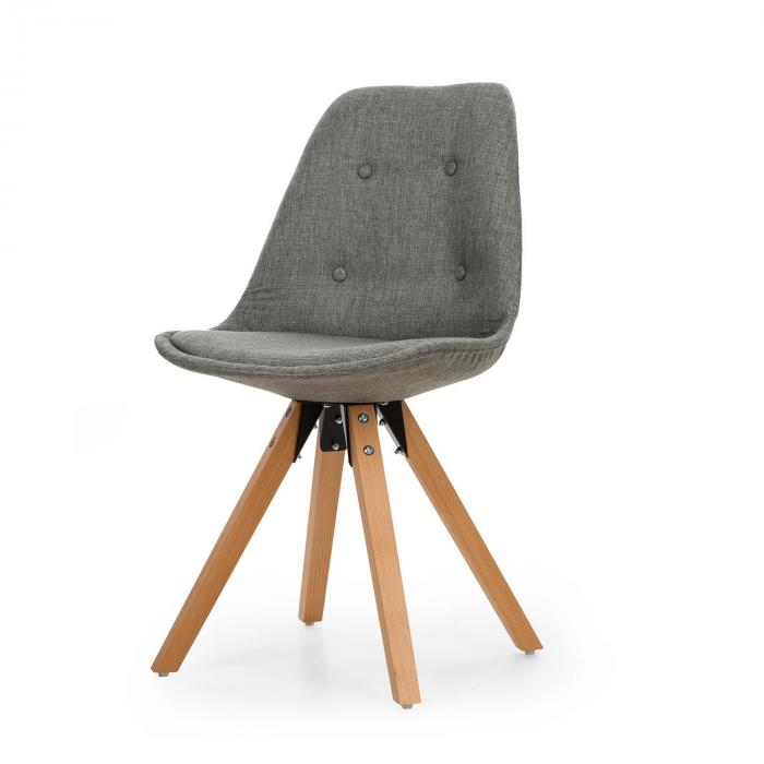 iseo shell chair set 2 piece set of upholstered pp shell birch grey