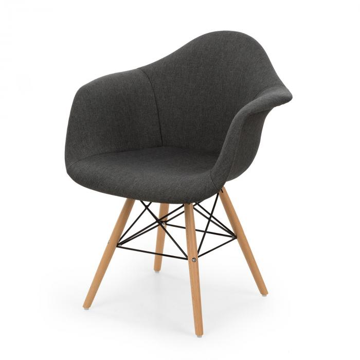 Visconti Set 2 chaises design à coque polypropylène gris